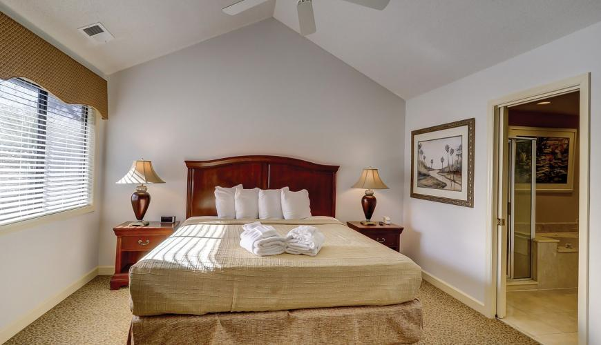 Bedroom #2 with King and Vaulted Ceilings