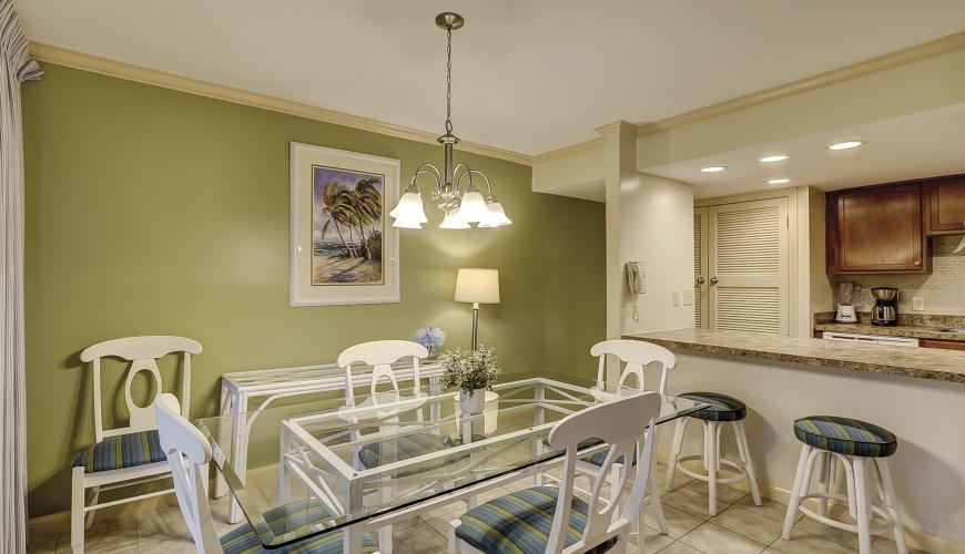 Dining Room Area With Kitchen Breakfast Counter