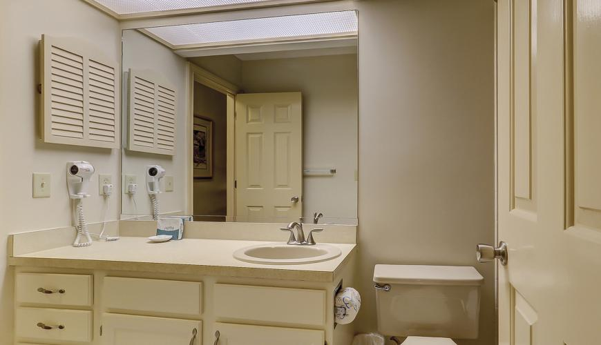 Guest Bath Accessed From Hall and Bedroom #2