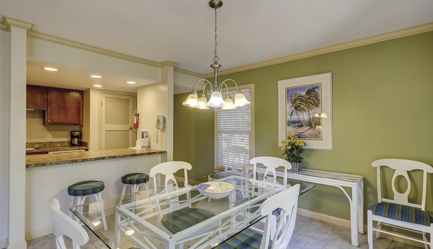 Dining Room Area With Breakfast Bar