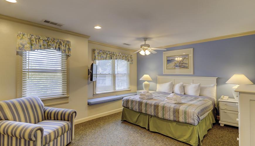Master Bedroom With Boxed Window Seat